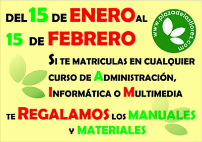 Promoción de Materiales del 15 de Enero al 15 de Febrero